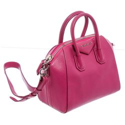 Givenchy Pink Grained Leather Mini Antigona Satchel Shoulder Bag