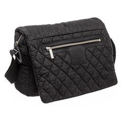 Chanel Grey Denim Coco Cocoon Messenger Bag