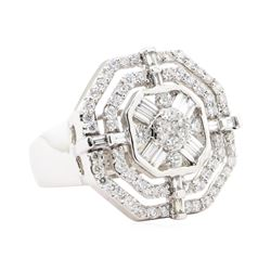 1.70 ctw Diamond Ring - 14KT White Gold