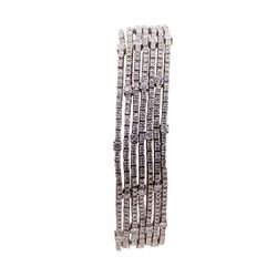10.17 ctw Diamond Bracelet - 14KT White Gold