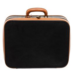 Hermes Black Brown Pebbled Leather Suitcase