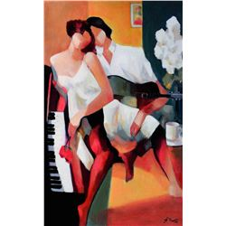 Gholam Yunessi Romantic Courtship on Canvas