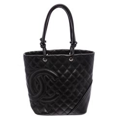 Chanel Black Quilted Leather Small Ligne Cambon Bucket Tote