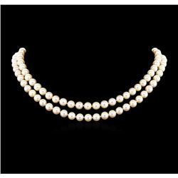 0.21 ctw Diamond Pearl Necklace