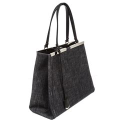Fendi Denim Leather Medium 2Jours Satchel Bag