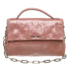 Miu Miu Pink Leather Small Crossbody Handbag