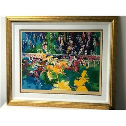 """Ascot Finish"" by LeRoy Neiman (1921-2012)"