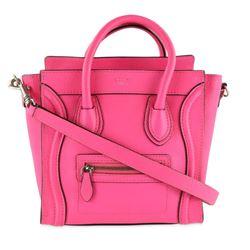 C�line Nano Luggage Tote Pink Leather Cross Body Bag