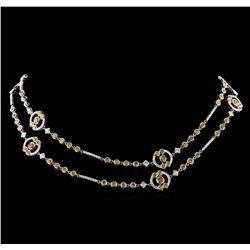 11.61 ctw Diamond Necklace - 18KT White Gold