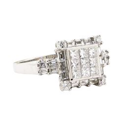 1.27 ctw Diamond Ring - 14KT White Gold