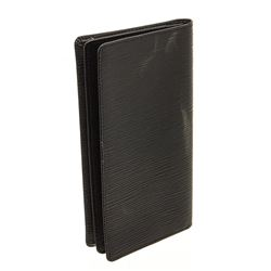 Louis Vuitton Black Epi Leather Checkbook Cover Wallet