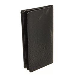 Louis Vuitton Black Epi Leather Checkbook Cover Wallet