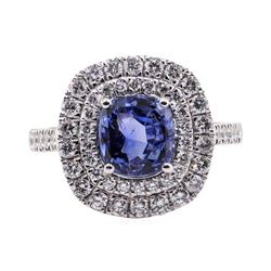 3.10 ctw Sapphire and Diamond Ring - Platinum