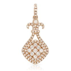 14k Rose Gold 0.43CTW Diamond Pendant, (I1/I)