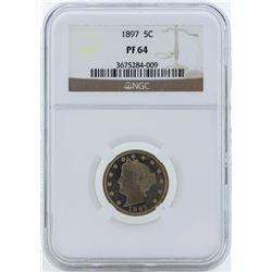 1897 Liberty Head Proof Nickel Coin NGC PF64