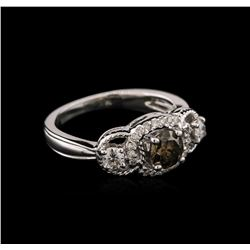14KT White Gold 0.87 ctw Diamond Ring
