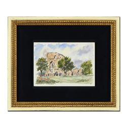 Knaresborough Castle by Martin Goode (1932-2002)