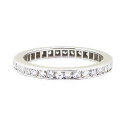 0.75 ctw Diamond Eternity Ring - 18KT White Gold