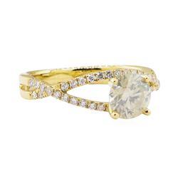 1.04 ctw Diamond Ring - 18KT Yellow Gold