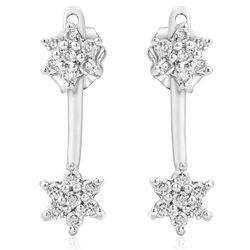 14k White Gold 0.35CTW Diamond Earrings, (I2-I3/H-I)