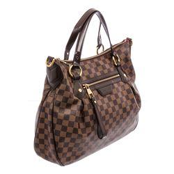 Louis Vuitton Damier Ebene Canvas Leather Evora MM Bag