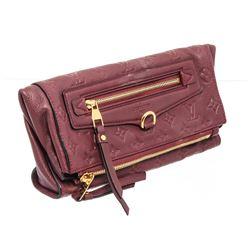 Louis Vuitton Burgundy Empreinte Leather Petillante Clutch Bag