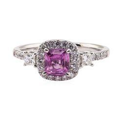 1.07 ctw Sapphire and Diamond Ring - Platinum