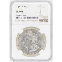 1901-S $1 Morgan Silver Dollar Coin NGC MS62