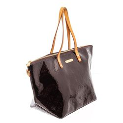 Louis Vuitton Amarante Vernis Monogram Leather Bellevue GM Bag