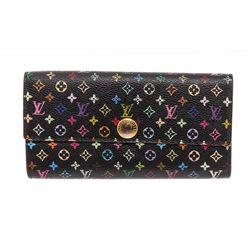 Louis Vuitton Black Multicolore Monogram Sarah Wallet