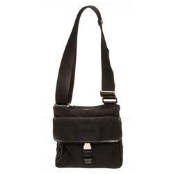 Prada Black Nylon Small Side Bag