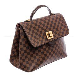 Louis Vuitton Damier Ebene Canvas Leather Bergamo GM Bag