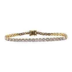 14.21 ctw Diamond Bracelelet - 14KT Yellow Gold