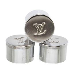 Louis Vuitton Silver Bougies De Voyage Candle Holder Set