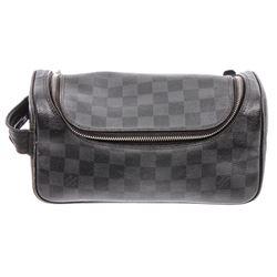 Louis Vuitton Damier Graphite Canvas Leather Toiletry Pouch Bag