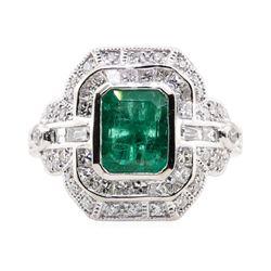 1.94 ctw Emerald and Diamond Ring - Platinum