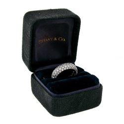 Tiffany & Co. Etoile Platinum 2.90 ctw E VVS1 4 Row Diamond Band Ring w/ Box