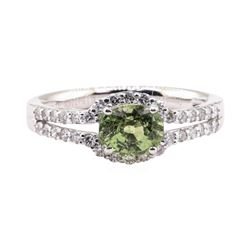 1.35 ctw Alexandrite and Diamond Ring - Platinum