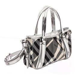 Burberry Beat Check Nylon and Leather Two-Way Shoulder Bag