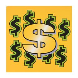 Dollar Sign State 4 by Steve Kaufman (1960-2010)
