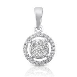 14K White Gold 0.25CTW Diamond Pendant Necklace, (SI3/H-I)