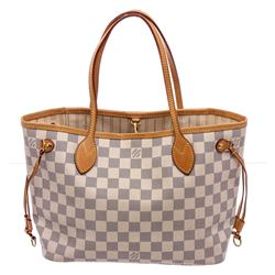 Louis Vuitton Monogram Canvas Leather Neverfull PM Tote Bag