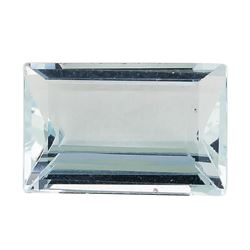 2.27 ct.Natural Rectangle Step Cut Aquamarine