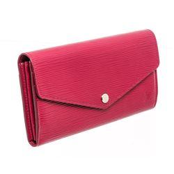 Louis Vuitton Fuschia Epi Leather Sarah Wallet