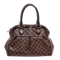 Louis Vuitton Damier Ebene Canvas Leather Trevi GM Shoulder Bag