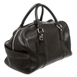 Louis Vuitton Black Tobago Leather Carryall Duffel Bag