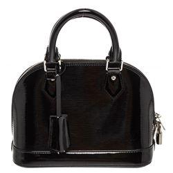 Louis Vuitton Black Electric Epi Leather Alma BB Bag