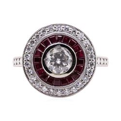 1.19 ctw Ruby and Diamond Ring - Platinum