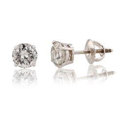 1.92 ctw Diamond 18K White Gold Earrings
