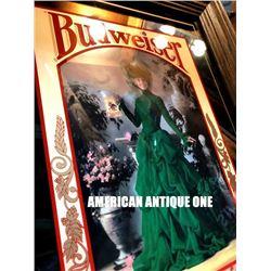 1992 56 cm Budweiser / American Pub Mirror